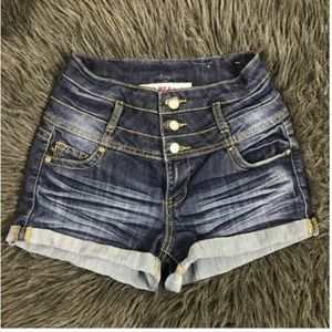 1st Kiss High Wasted Jean Shorts